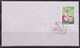 = Inde Enveloppe Calcutta 12 12 86 N°887 Hommage à Miyan Tansen Célèbre Musicien De La Cour D'Akbar - FDC