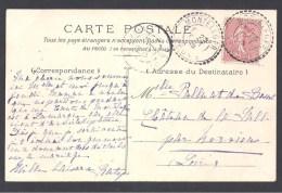 DROME - Cachet Pointillé De MONTELEGER - Marcophilie (Lettres)