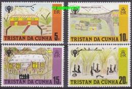 Tristan Da Cunha 1979 Children's Drawings / Year Of The Child 4v ** Mnh (20098) - Tristan Da Cunha
