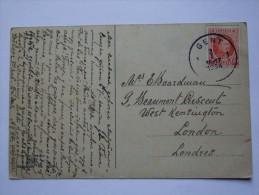 BELGIUM 1924 POSTCARD GENT TO LONDON UK - Belgium