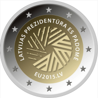 LATVIA 2 EURO Commemorative 2015 - EU Presidency - UNC From The Roll - In Stock - Latvia