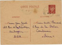 FRANCIA - France - PETAIN - 1941 - 80 - Carte Postale - Post Card - Intero Postale - Entier Postal - Postal Stationar... - Biglietto Postale