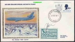 "New Zealand 1978 Air New Zealand Special Antarctic Flight Cover ""Silk"" (20109) - Unclassified"