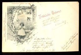 Frohliche Ostern! / Collection 'Chic' Nr. 102 / Verlag C. Ledermann / Year 1898 / Old Postcard Circulated - Ostern