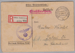 Heimat Tschechien Märisch-Schönberg (Sumperk) Einberufungsbefehl R-Eilige Wehrmachtsache - Bohême & Moravie