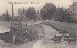 Boissy L'Aillerie 95 - Abreuvoir /Editeur Houlier Tabacs/ Correspondant Mme Rol Receveuse Poste - Oblitérations Boissy - Boissy-l'Aillerie