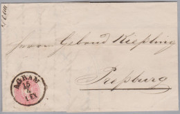 Kroatien 1866-04-15 AGRAM 5 Kreuzer Brief Nach Prepburg - Croatie
