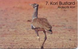 MAMIBIA CHIP PHONECARD BIRD KORI BUSTARD NAB:90 -1/99 -USED