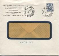 TP 527 Sceau De L'Etat S/L.c.Auvelais En 1938 Tarif Réduit Facture AP821 - Belgique
