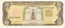 BILLETE DE REP. DOMINICANA DE 20 PESOS ORO DEL AÑO 1990 SERIE D (BANKNOTE) SIN CIRCULAR-UNCIRCULATED - República Dominicana