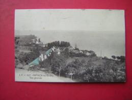 CPA     AMPHION LES BAINS  VUE GENERALE          VOYAGEE 1913  TIMBRE  ATTENTION CARTE EN MAUVAIS ETAT - Autres Communes