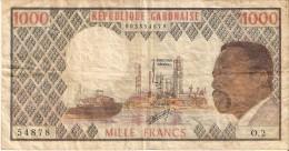 BILLETE DE GABON DE 1000 FRANCS DEL AÑO 1973  (BANKNOTE) PESCADOR-FISH (LETRA L) - Gabon