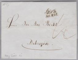 Heimat Slovenien GÖRZ 1846-05-30 Schriftstempel Vorphila Brief Nach Debrezin Ungarn - Slovénie