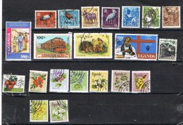 OUGANDA: LOT DE 21 TIMBRES DIFFERENTS OBLITERES - Ouganda (1962-...)