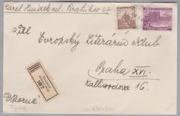 Heimat Tschechien EISENBROD 1940-12-12 R-Brief Nach Praha - Bohême & Moravie