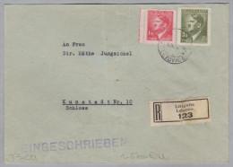 Heimat Tschechien LETTOWITZ 1943-10-19 R-Brief Nach Kunstadt - Bohême & Moravie