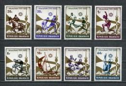 RWANDA * 1972 * OLUMPIC GAMES * Sc # 478 - 485 * MNH - Rwanda