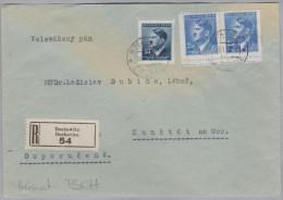 Heimat Tschechien BUKOWITZ 1943-01-1? R-Brief Nach Kunstadt - Bohême & Moravie