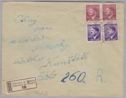 Heimat Tschechien SEBRANITZ In MÄHREN 1945-04-09 R-Brief Nach Kunstadt - Bohême & Moravie