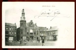 ANICHE - Mairie - (Très Beau Plan Animé Avec Commerces) - CP Très Ancienne - France