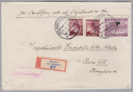 Heimat Tschechien RYCHNOV AD KNEZNOU 1940-01-16 R-Brief  Nach Prag - Bohême & Moravie
