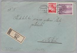 Heimat Tschechien MOHELNO 1940-08-02 R-Brief  Nach Tabore - Bohême & Moravie