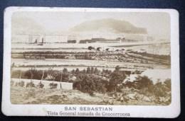 FOTOGRAFIA CDV XIXeme : SAN SEBASTIAN VISTA GENERAL DE CONCORRONEA ESPANA - Fotos