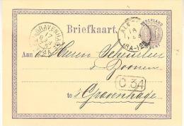 1875 Bk Met Tweeletter Van ALMELO Naar ´sGravenhage (kopstaande Maand) 17 FEB 75 - Covers & Documents