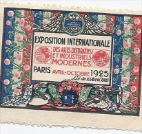 EXPOSITION Internationale Des Arts Décoratifs Et Industriels  - PARIS 1925 - Erinnofilia