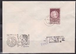 = Roumanie Georges Enescu 2 Timbres Dont 1 Au Verso Enveloppe Bucarest  13 03 86 - Poststempel (Marcophilie)