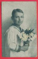 165124 /  PORTREIT YOUNG BOY MARINE DRESS WITH FLOWERS - 571 - Portraits
