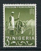 (cl 9 - P12) Nigeria ** N° 137  (ref. Michel Au Dos)  - Campagne Contre La Faim. Elevage De Bovins - - Nigeria (1961-...)
