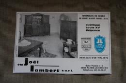 PUB 1974 Meubles LAMBERT FLINES LES RACHES Nord 59 - Advertising