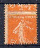 Semeuse N° 158 Neuf * - Beau Piquage à Cheval - Léger Pli Horizontal - Variétés: 1900-20 Neufs