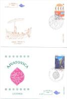 1997.  Bosnia And Herzegovina, Europa 1997, 2 FDC, Mint/** - Slovenia