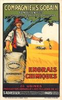 - Ref F69 -publicite - Compagnie De Saint Gobain - St Gobain - Fondee En 1665 - Engrais Chimiques - Carte Bon Etat - - Publicité