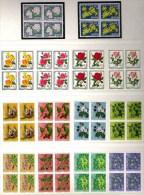 PJ 1972-1977+82 Blumen & Rosen : Zu-Nr 240-264+281-5 Im 4er-Block ** MNH (Zu CHF 129.00) - Pro Juventute