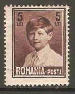"ROMANIA    Scott  # 326*  VF MINT HINGED ""ERROR"" - 1918-1948 Ferdinand, Charles II & Michael"