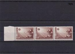 Dt. Besetzung Serbien, MiNr. 58 I, ** Postfrisch, 3er Streifen Mit Plattennummer IV - Ocupación 1938 – 45