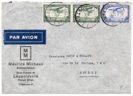 Congo Belge : Lettre Par Avion De 1938 Pour La Suisse
