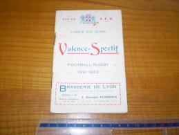 Football Rugby :Valence Sportif Comité Des Alpes,calendrier Des Rencontres & 16 Publicités Locales: Jacquin,Blain,Ducros - Rugby
