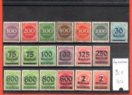 Allemagne République De Weimar, Lot De Timbres, Lot N° 3, 22 Timbres - Collections