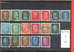 Allemagne République De Weimar, Lot De Timbres, Lot N° 5, 18 Timbres - Collections