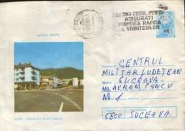 Romania - Postal Stationry Cover 1978 Used -  Bicaz - View - Postal Stationery