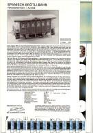 Découpage Maquette - Wagon Suisse SNBA 1°classe 1847 - Cut-out Paper Model - Modellbogen Zurich - Ohne Zuordnung