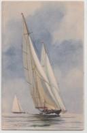 CPA YACHTS DE LA GRANDE CLASSE , Collection De La Ligue Maritime Et Coloniale - Pintura & Cuadros