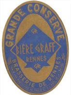 Etiquette Ancienne : Bière Graff - Bière