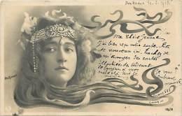 - Ref F56 - Femme - Theme Femmes - Tendance Art Nouveau - Photographe Reutlinger - Cheveux -  Carte Bon Etat - - Femmes
