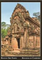 CAMBODGE. Monument Temple Banteay Srei (la Citadelle Des Femmes). Carte Postale Neuve - Camboya