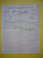 Facture Illustrée Grains Et Céréales Du Pays 1893 R. Desalles à Montagnac Hérault - Francia